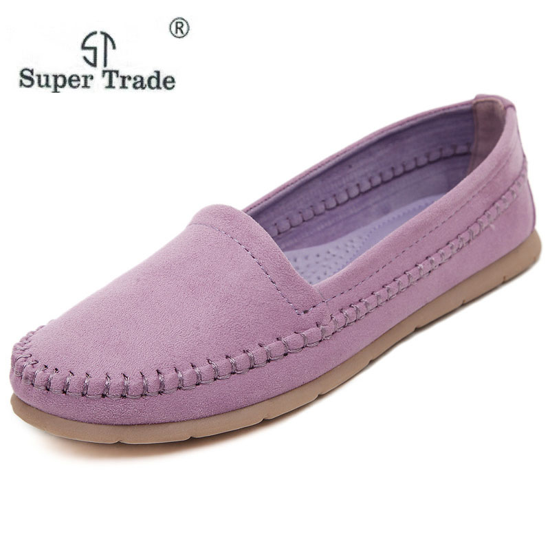 SUPER TRADE Winter Women Loafers Shoes Inside Warm Soft Women Flats Winter Fur Lined Slip On