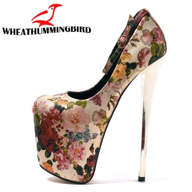 Newest Women Sandals 2018 Sexy 19CM High Heels Shoes Summer Ladies Sexy Thin Heel Sandals Shoes platforms pumps size 34-43 MC-74