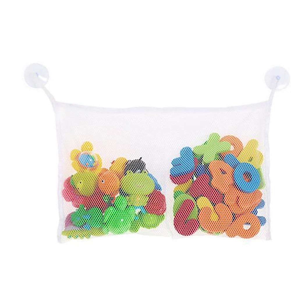 Fashion 36*25cm Baby Toy Mesh Storage Bag Bath Bathtub Doll Organize Brinquedos Rangement Toy Storage Box Collect Tools