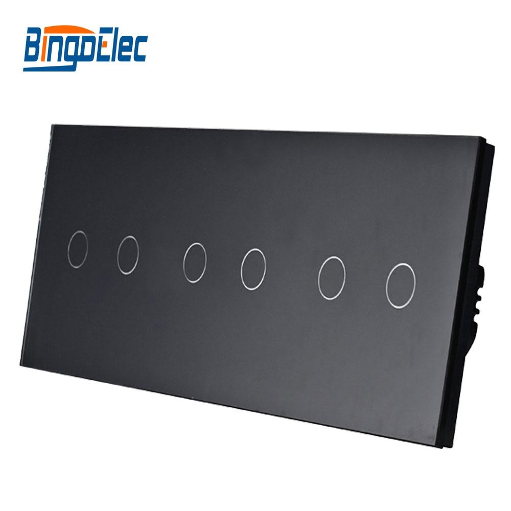 Interrupteur de type EU, interrupteur intelligent à applique tactile 6 gangs, combinaison gratuite, offre spéciale de AC110-250V - 2