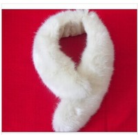 Scarves & Wraps Simulation fox collars scarf white winter pure black color fur collar women's fashion scarf collar wholesale