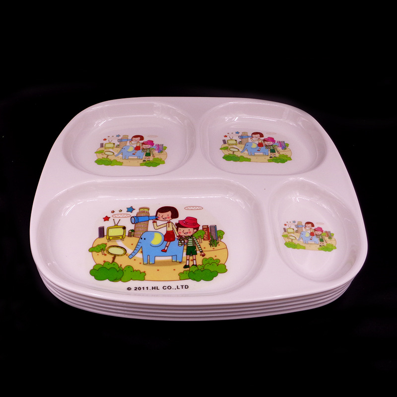 Cute Children Melamine Plates Tray Baby Dinnerware Cartoon Rabbit Design Kids Snacks Dessert Dish Tray-in Dishes from Mother u0026 Kids on Aliexpress.com ... & Cute Children Melamine Plates Tray Baby Dinnerware Cartoon Rabbit ...