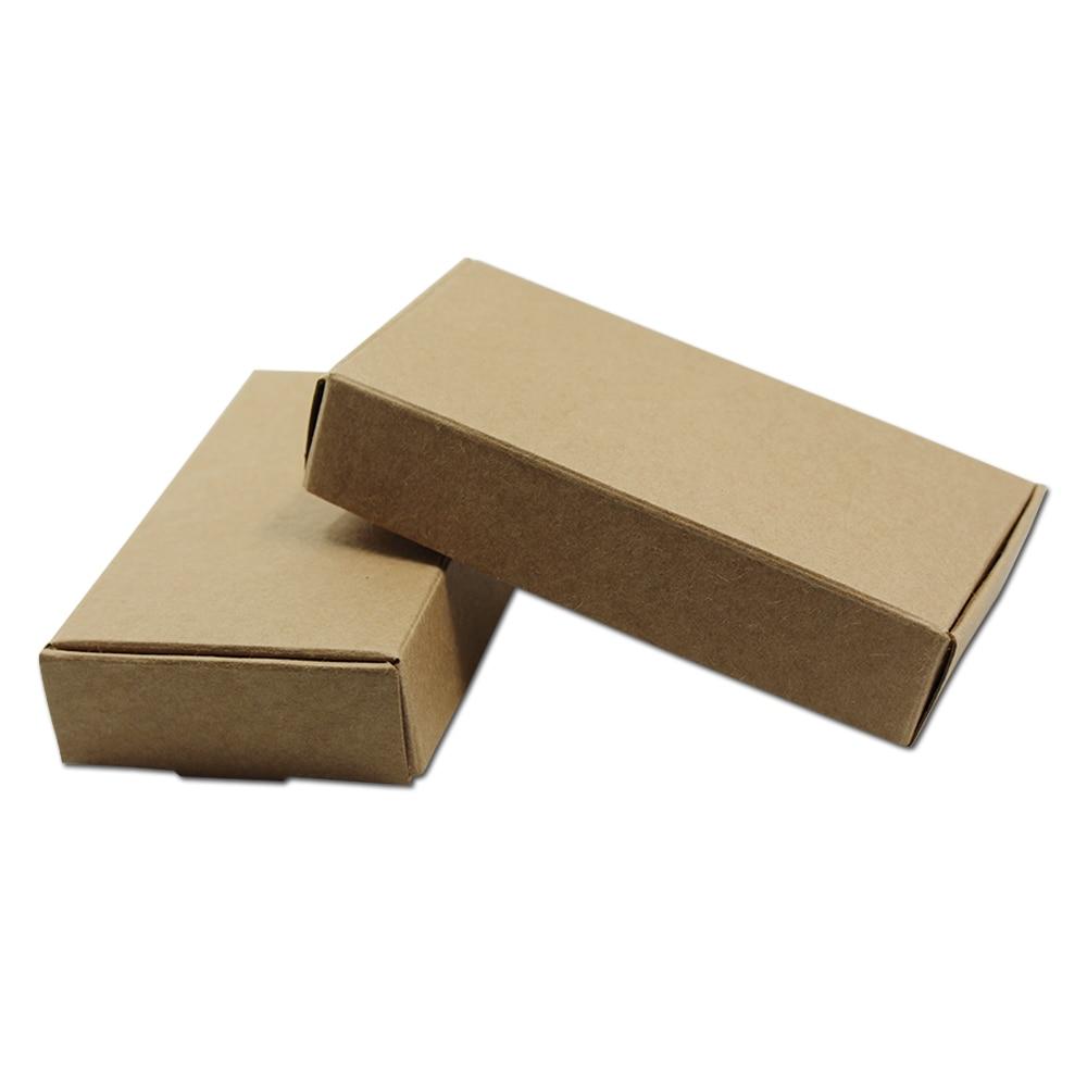 150Pcs Brown Kraft Paper Box Handmade Paperboard Cardboard DIY Craft Candy Soap Chocolate Supply 7 Size