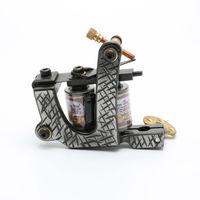 free shipping One Custom Pro Top Carbon Steel 10 Wrap Coils Tattoo Machine Gun Supply tattoo machine good quality