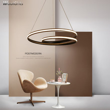Wooights Modern Pendant Chandelier Lighting for Office Dining Living room Kitchen 110V 220V Lustre Cord hanging White