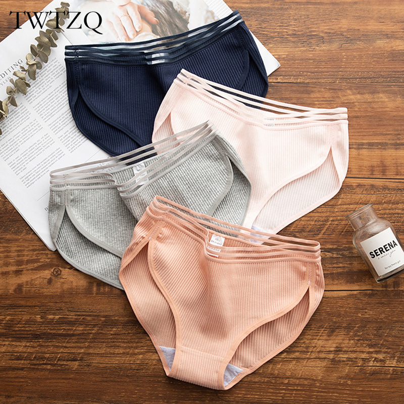 TWTZQ Sexy   Panties   For Women Thong Underwear Lingerie Cotton Briefs 2019 New Ladies Casual Female Underpants Girl Tanga