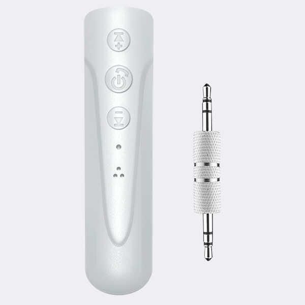 Risvolto clip di Bluetooth ricevitore audio 3.5AUX auto altoparlante auricolare universale di un trascinamento due chiamata di funzione della macchina fotografica
