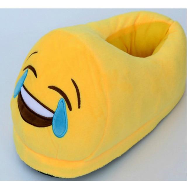 5f45f8e49d17b Adulte intérieur chaud Emoji pantoufles hiver coton peluche pantoufle  enfants chaussures Smiley émoticon printemps maison beaux