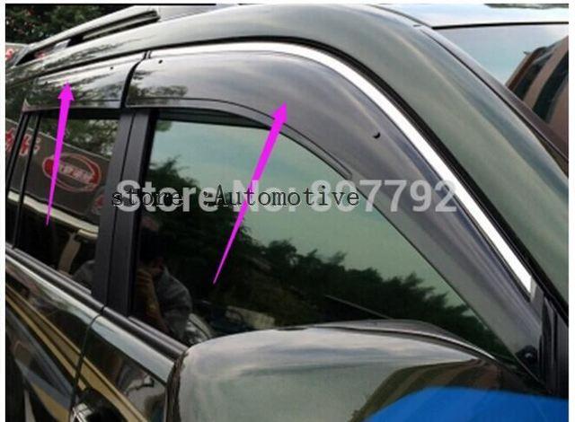 CAR Rain Window Sun Visor Sunvisor Trim Exterior Windows Visor 4pcs For Toyota  Land Cruiser Prado 59c23cdb93a