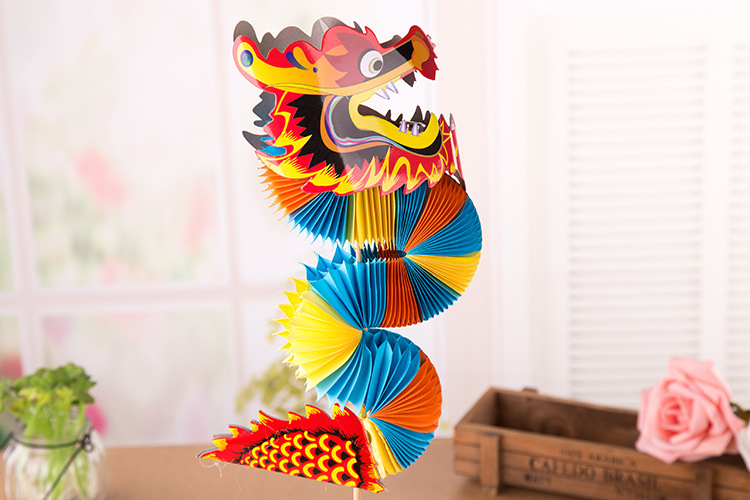 Eastern Dragons Paper Chromatic Eastern Dragons Paper Crafts Handmade Toys For Kindergarten Paper Models Papercrafts Kids Gifts