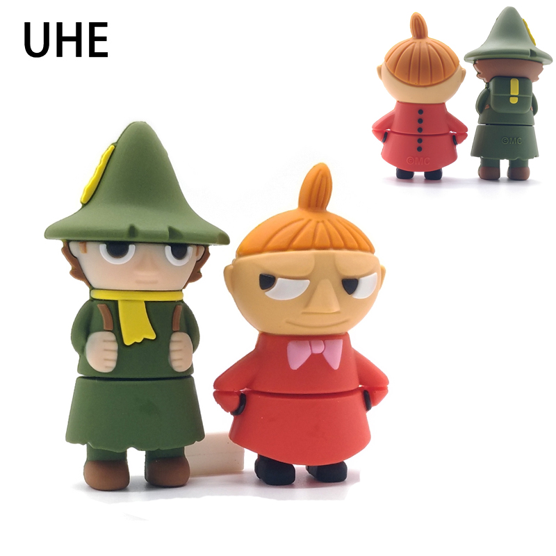 USB Flash Drive 4G 8G 16G 32G 64G Real Capacity Memory Stick Cartoon Moomin Valley Pendrive Cute Little My&Snufkin Pen Drive