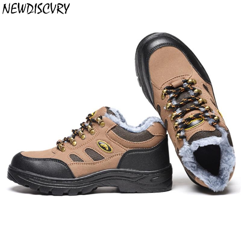 Newdiscvry Pria Baja Kaki Sepatu Keselamatan Musim Dingin Hangat Bulu Sepatu  Bot Salju Garis Reflektif Outdoor Kerja Khusus Alas Kaki Sepatu di Sepatu  kerja ... 1df1949a06