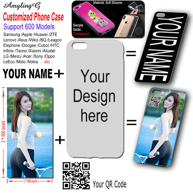 Personalized Customized DIY Soft Silicon Case For Tecno Spark Plus K9 K7 L8  L9 Plus Phantom 8 Y2 WX3 WX4 Case Cover Photo Name