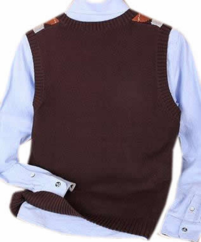 Abetteric Mens Fashion Checkered Slim V Neck Sleeveless Sweater ...