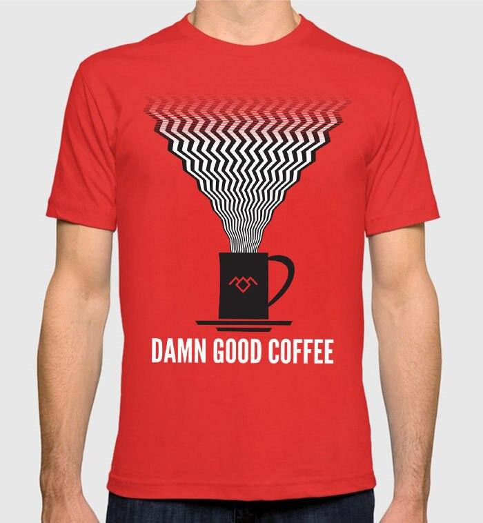 Twin Peaks damn Good Coffee T-Shirt David Lynch Mens Tee Anime Casual Clothing Harajuku Funny Tops