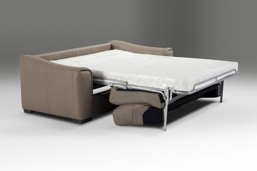 Genuine Real Leather Sofa Bed Living Room Couch/ Sofa Bed And Mattress  Modern Art Creative