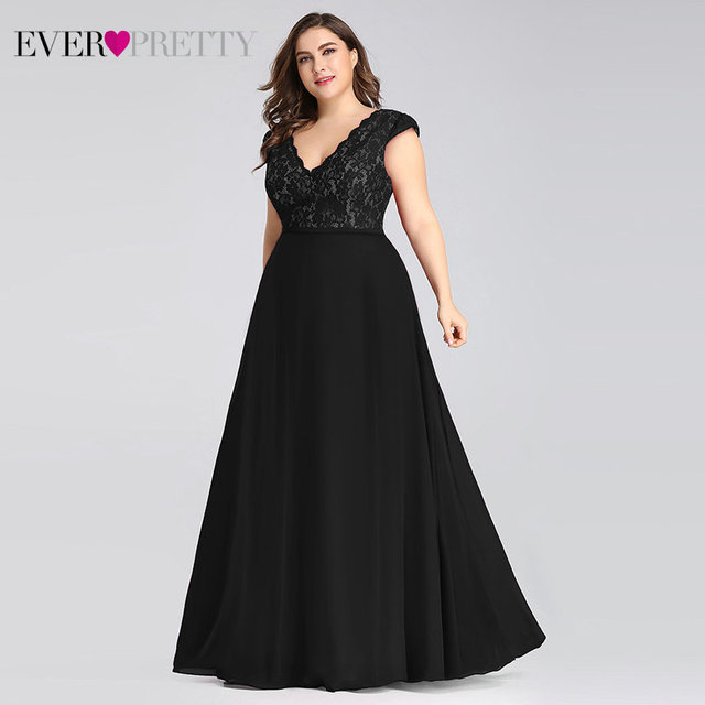 Plus Size Prom Dresses Long 2019 Ever Pretty EP07344 Elegant Burgundy A-line Sleeveless Lace Appliques V-neck Vestidos De Gala 4