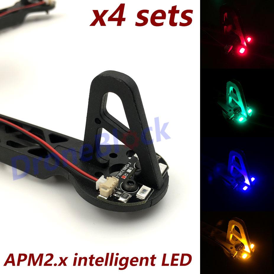 Apm2.6 2.5 apm2.8 led para quadcopter f330 f450 f550 s500 quadro corpo tbs descoberta navegação luz com módulo de movimentação hexcopter