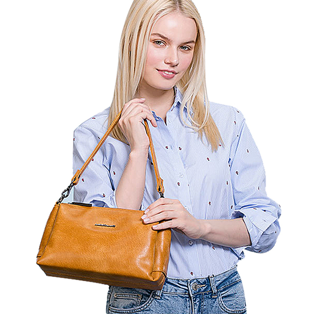 AMELIE GALANTI sSmall 3 Zipper Crossbody Bag for Women Practical Stylish High Quality PU Leather Zipper Multi Pocket with Strap Top-Handle Bags