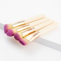 4 Pcs Professional Make Up Brush Eyeshadow Lip Foundation Cosmetics Brushes Maquiagem High Quality Soft Red