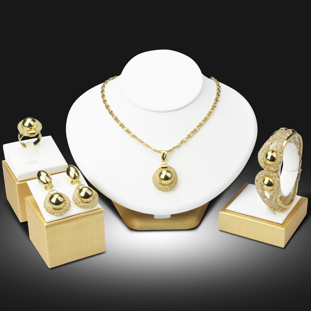 Dubai luxury gold plated jewelry sets nigerian wedding for Decor jewelry