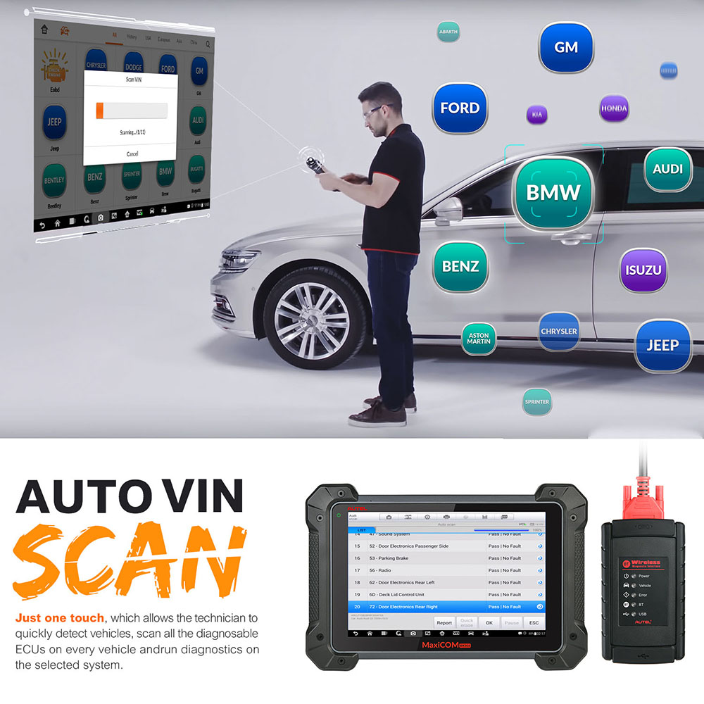 Autel MaxiCOM MK908 Auto Full OBD2 herramienta de diagnóstico de coche OBDII lector de código de codificación de código escáner OBD 2 HERRAMIENTA de escaneo pk Launch X431 - 5