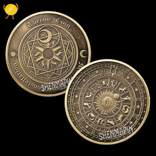 Tarot Wishing Commemorative Coin Sun Moon Constellation Challenge Feng Shui Coins collectibles Help People Think Things