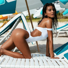 sexy one piece swim suits White Swimsuit Front Cut Out Beachwear Monokini Brazilian Bikini Set bathing suit women Summer Holiday