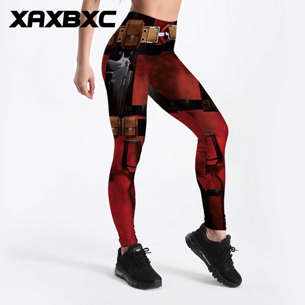 cb1dcced16568 XAXBXC 3757 Sexy Girl Pencil Pant Comics Deadpool Superhero Cosplay Prints  Elastic Slim Fitness Workout Women