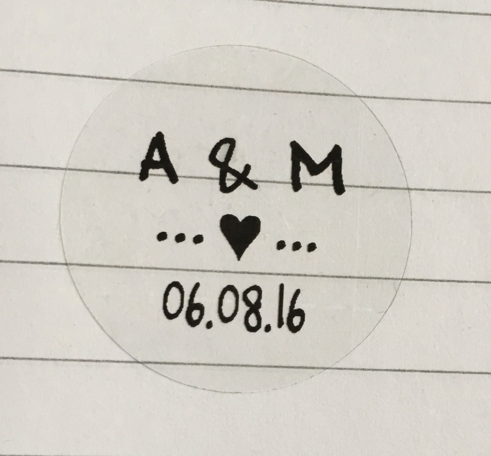 Round Wedding Invitation Label 1: 90 Pieces 1.19 Inches Customize Clear Transparent Round