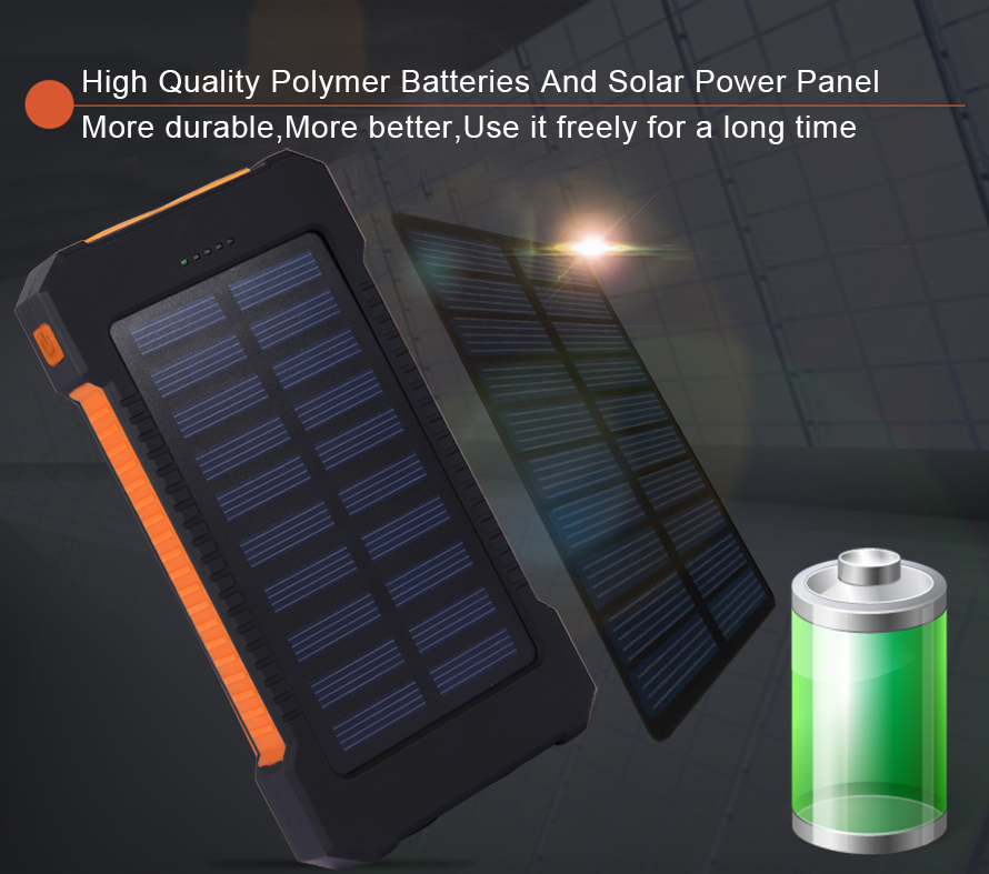 Waterproof Solar Panel Powerbank
