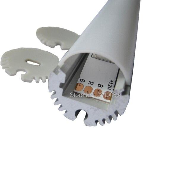 10 Sets/Lot type Rond en aluminium Anodisé led profil dextrusion AL6063 LED en aluminium profil logement pour pendentif lumière (0.5 M longue)