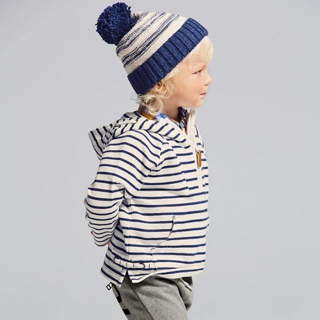 Pouco maven 2016 outono meninos marca de roupas de inverno crianças quentes Hoodies & Camisolas meninos despojado carta imprimir velo WY098