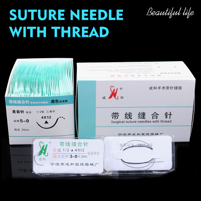 Suture Needle Surgery Tool Nano-traceless Angle Needle Eyelid Burying Surgical Instrument Triangle Eyebrow Canthus 10pc/set