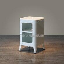 Modernes Design Metall Stahl Niedrigen Esszimmer Hocker Mit Lagerung,  Wohnzimmer Schuhe ändern Hocker, Loft