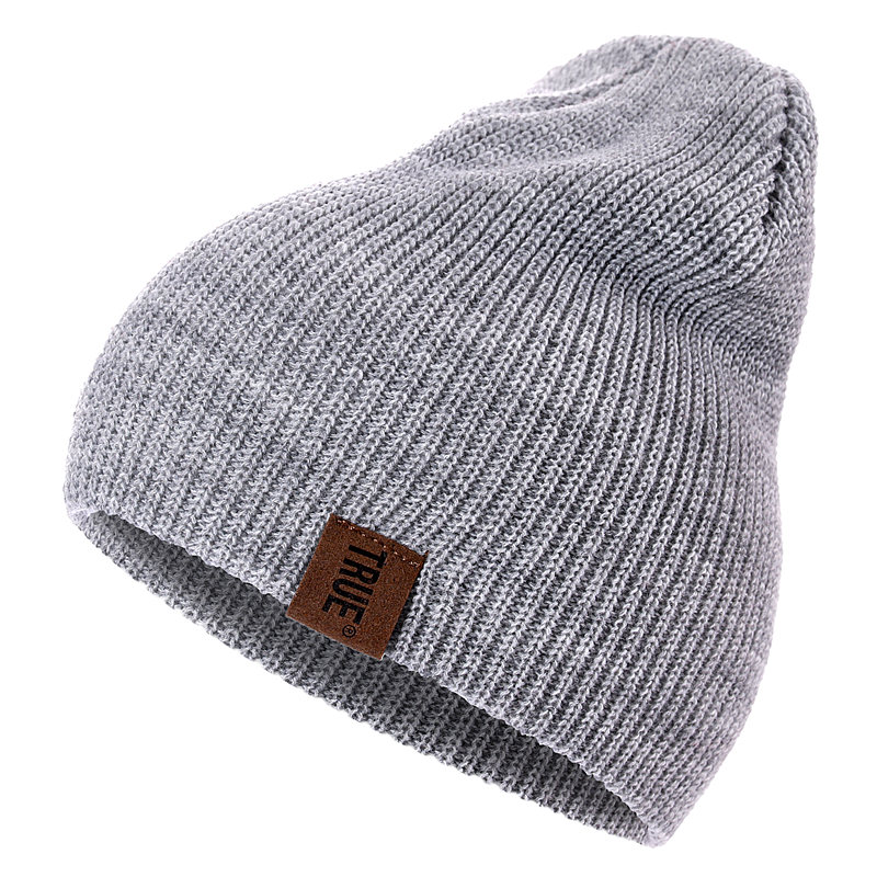 HTB1sCOvXpzsK1Rjy1Xbq6xOaFXaL - 1 Pcs Hat PU Letter True Casual Beanies for Men Women Warm Knitted Winter Hat Fashion Solid Hip-hop Beanie Hat Unisex Cap