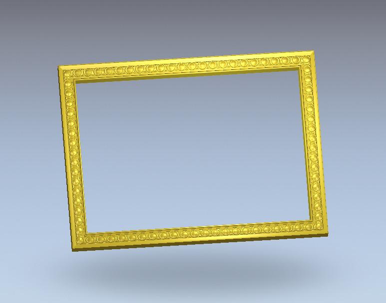 1438 STL Mirror Frame for CNC Router 3D Printer Artcam Aspire Cura