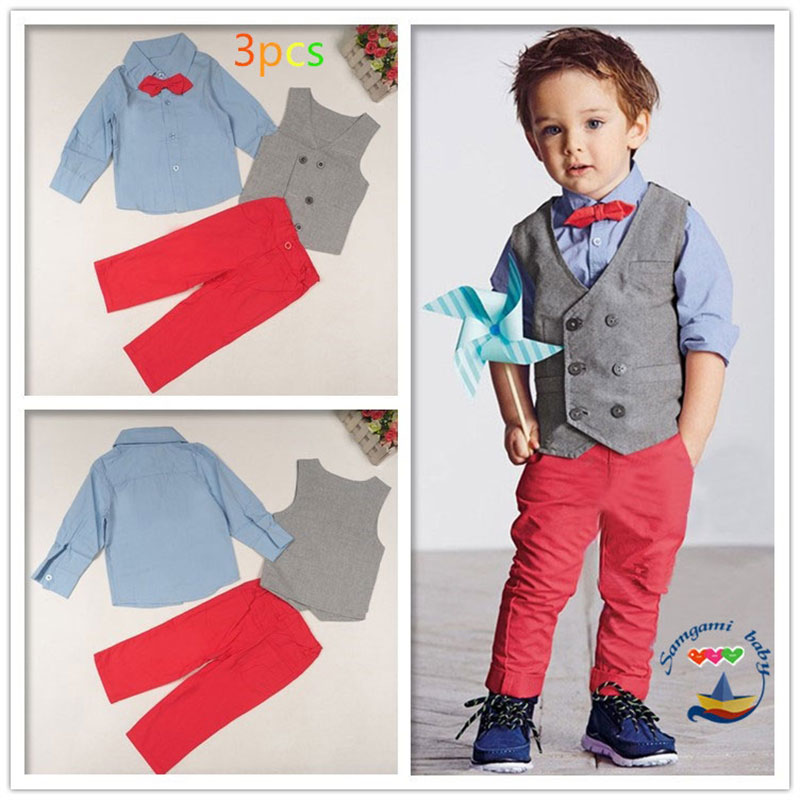 Formal Clothing Sets For Newborns Boy Wedding Party Gentleman Style Children's Kids Boys Clothes Suits Outerwear Sport Set 3PCS boys clothes sets formal gentleman suit 3pcs set children clothing set kids clothes for baby birthday wedding party