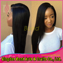 straight 100% unprocessed 8A top grade front full lace human hair wigs hand made glueless Lace Front Wigs for black women