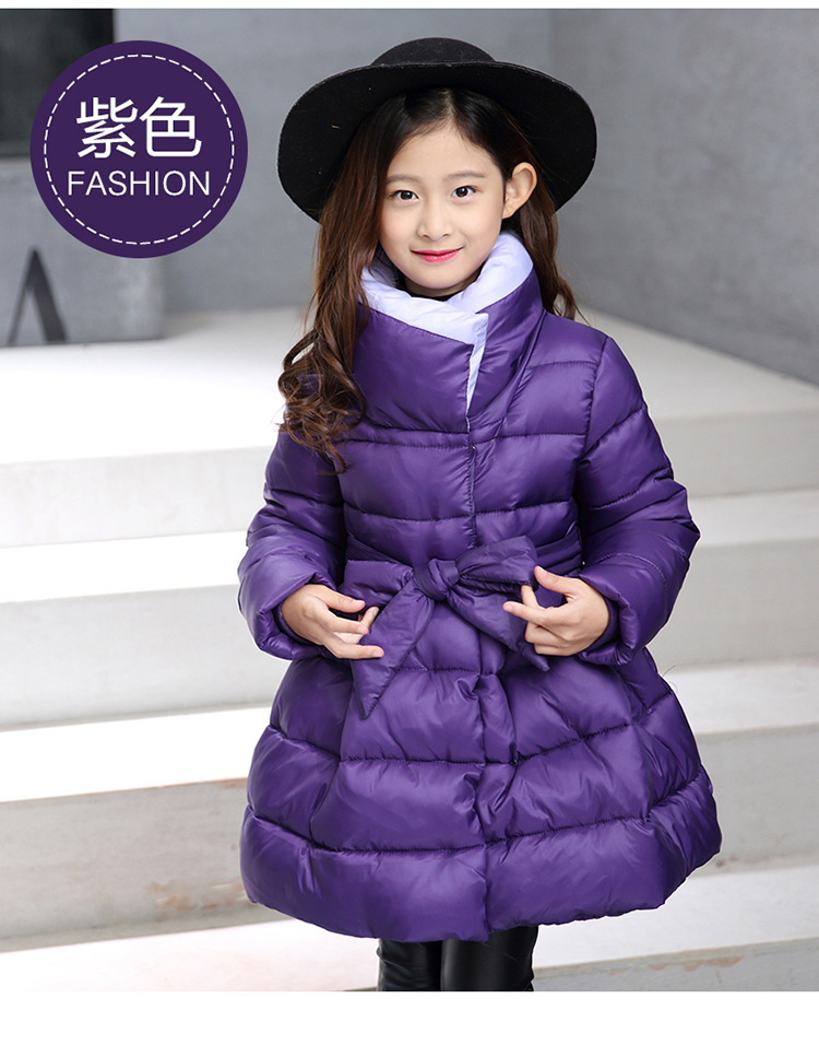Kids Clothes 2018 new Pure color Boss Girls Winter Coat Long sleeve Single Breasted Cotton Jacket Baby Girl Clothes 3-12 years цена 2017