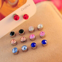 Magnetic Without Piercing Crystal Ear Cuff Clip Earrings For Shemales & Crossdressers
