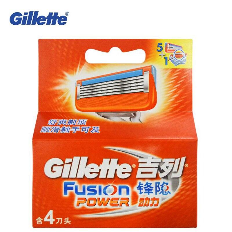 Genuine Gillette Fusion Power Shaving Razor Blades para hombres marcas Afeitadora  eléctrica cuchillas con 4 cuchillas cuidado de la cara en Maquinillas de ... 69d65e2b6995