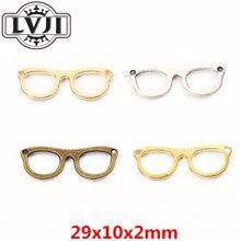 Novo 40 óculos de liga pingente diy encantos moda feminina pulseira colar jóias acessórios 6005