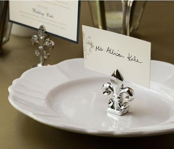 Wedding Party Decoration Fleur De Lis Silver Finish Place Name Card Photo Holder Table Number In Diy Decorations From Home Garden On