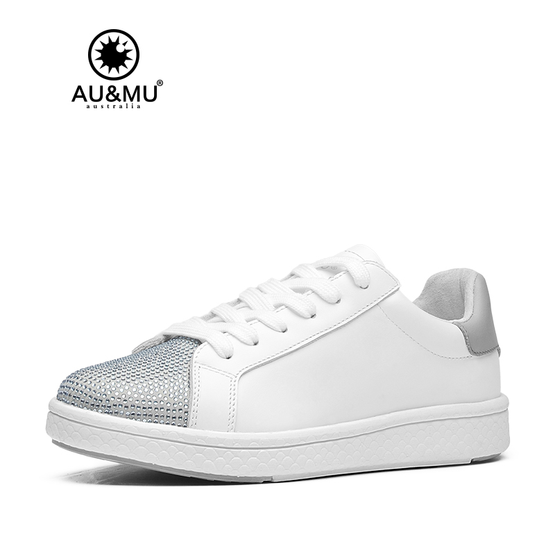 2018 AUMU Australia Rhinestone Shiny All-match Casual Shoes G915 2018 aumu australia rhinestone shiny