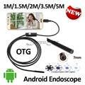 7 ММ OD Android USB Камеры Эндоскопа 5 М 3.5 М 2 М 1.5 М 1 М Гибкая Змея Инспекции водонепроницаемый Andorid Телефон USB Бороскоп Камеры