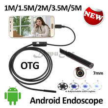 7MM OD Android USB Endoscope Camera 5M 3.5M 2M 1.5M 1M Flexible Snake Inspection Waterproof Andorid Phone USB Borescope Camera