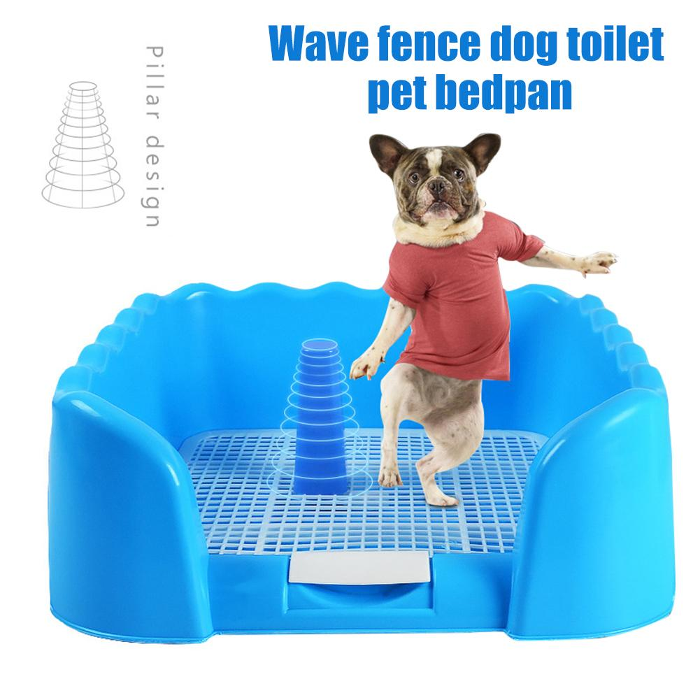 40# Pet Portable Fenced Toilet Tray Grid Litter Box Dog Training Toilet For Middle Small Sized Pet Potty Supplies