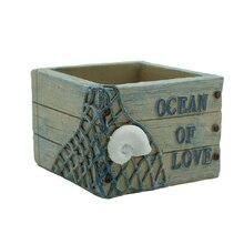 Roogo ocean fishing net cactus flower pot garden supplies decorative vase planter toy gift for mom durable bonsai funny