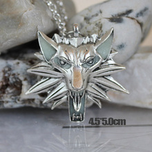 The Witcher 3 Wild Hunt Wolf Necklace Pendant